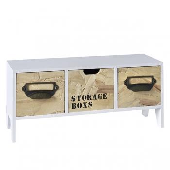 שידת עץ STORAGE BOXS שלוש מגרות