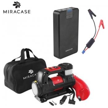סט של קומפרסור ופנס+סוללת התנעה MIRACASE