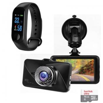 שעוןחכם מתחבר לאפליקציה בטלפון הנייד ומשמש בתחומים שונים מצלמה לרכב יוקרתית ומעוצבת המקליטה ומתעדת את מהלך הנסיעה בזמן אמת כרטיס זיכרון MICRO SD בנפח 16GB